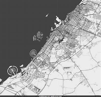Dubai Map Vector Labels Scalablemaps