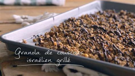 granola de couscous israelien grille cuisine futee