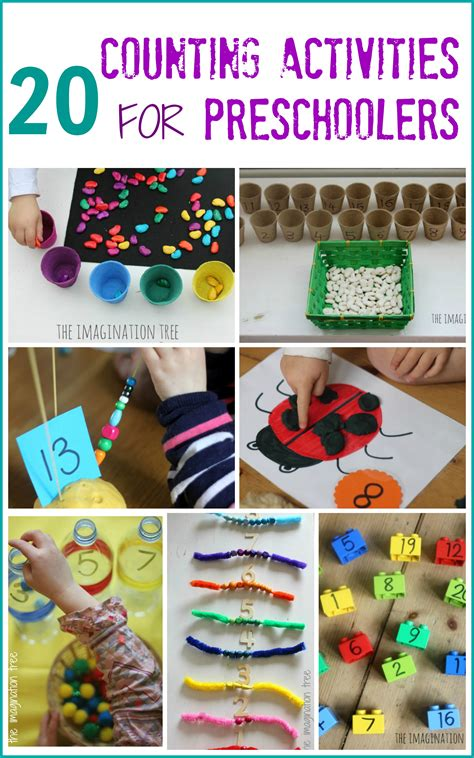 20 counting activities for preschoolers the imagination tree 210 | 20 activities for preschoolers