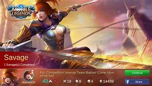 My First Ever PentaKill Savage Mobile Legends Amino Amino