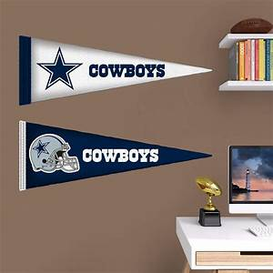 dallas cowboys pennants fathead jr wall decal shop With dallas cowboys wall decals for kids rooms