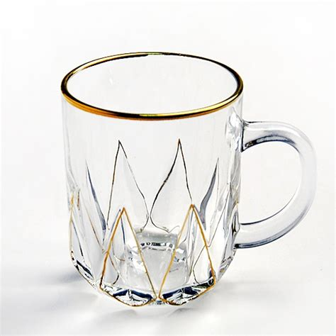 Apart from serving coffee, you can as well use the mug to serve tea. New product gold rimmed glass coffee cup clear glass mugs tall coffee mugs manufacturer
