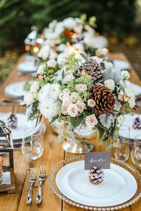 idees de decoration table mariage automnehiver qui