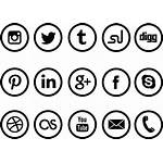 Social Icons Icon Transparent Circle Pngkit Toppng