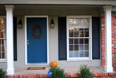 Front Doors : Blue Front Door For A Warm And Friendly House