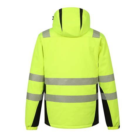 Augstas redzamības ziemas softshell jaka Calgary, dzeltena M, Pesso - Hi-vis ziemas jakas