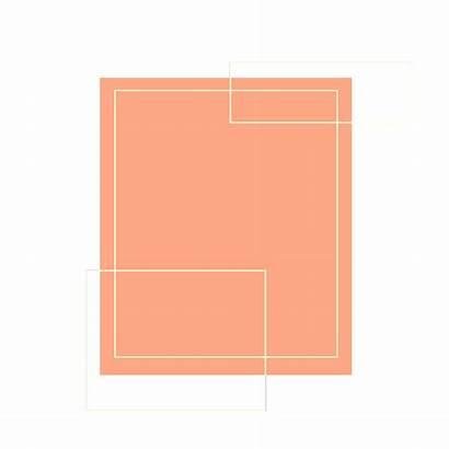 Clipart Square Shaped Shape Transparent Shapes Peach