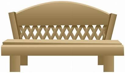 Transparent Bench Clipart Garden Clip Furniture Cliparts