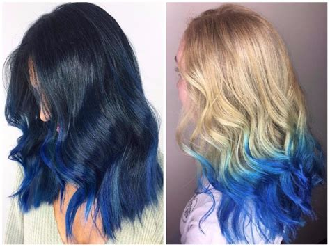 Coloring Hair Blue by Blue Ombre Hair Color Light And Shades 2017