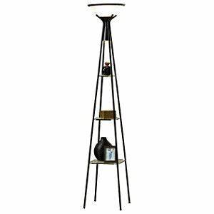 Torchiere floor lamp with lighted shelves february store for Torchiere floor lamp with shelves