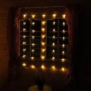 Lichterkette Für Fenster : weihnachtslichterkette mit sternen als dekoration f r fenster lichterkette weihnachten le ~ Markanthonyermac.com Haus und Dekorationen