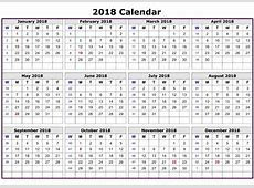 2018 Calendar Printable Template with Holidays USA UK