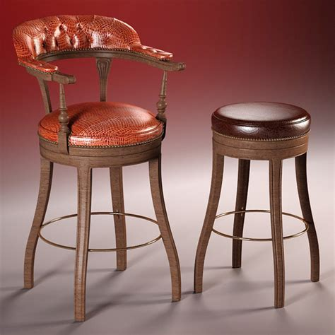 high quality 3d model of bar chairs the president by rnax