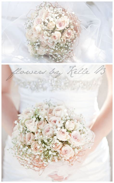 pink  babys breath wedding bouquet google search