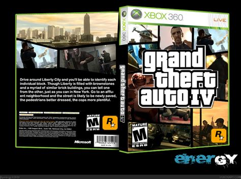 grand theft auto iv playstation  box art cover  ener gy