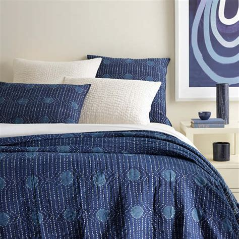 What Is A Coverlet by Resist Dot Indigo Coverlet Pine Cone Hill
