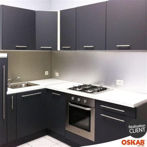 cuisine touch cuisine grise porte effet touch ginko gris mat