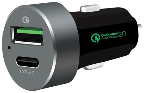 Eli1032 Car Charger Quick Charge™ 2.0 + Usb Type-c