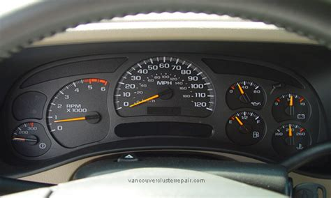 gmc instrument cluster repair speedometer repair odometer repair gauge repair gm sierra