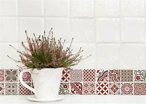 Papier Adhésif Carreaux De Ciment : le carreau ciment en trompe l 39 oeil marie claire maison ~ Premium-room.com Idées de Décoration
