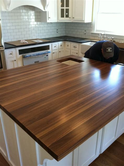 wood kitchen island top this is the boos walnut butcher block that is my 1595