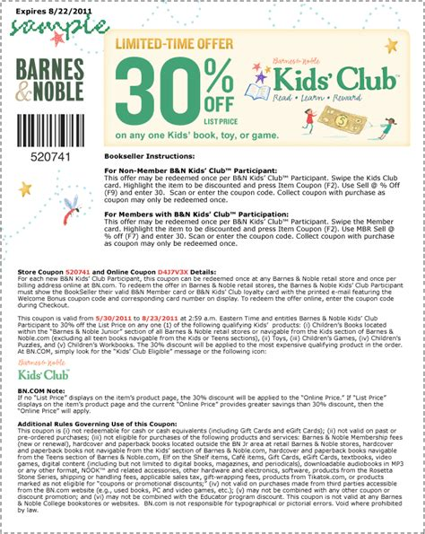 barnes and nobles code barnes and noble coupons december 2014