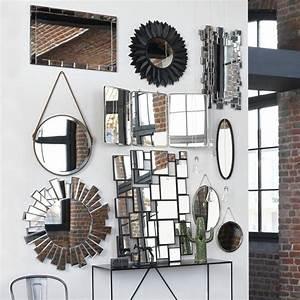 Miroir Barbier Rond : on r fl chit la lumi re avec un mur de miroirs miroir pinterest maison miroir de fleurs ~ Teatrodelosmanantiales.com Idées de Décoration