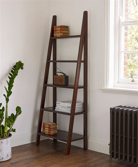 Corner Bookcase Espresso by Ladder Bookshelf And Desk Furniture Kicking Ladder Shelf