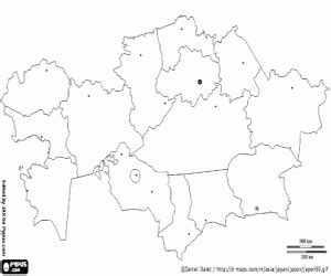 Political maps of Asia countries coloring pages printable ...