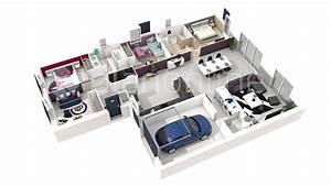 plan de maison 3d 4 chambres With logiciel plan maison 3d 5 code couleur voiture