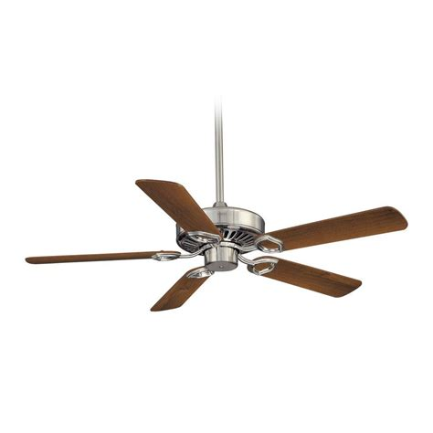 ceiling fans without lights ceiling fan without light in brushed nickel finish f588