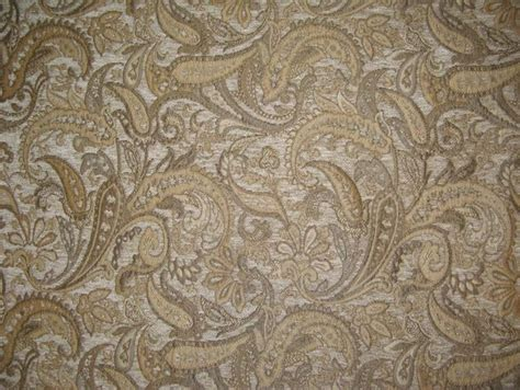 Drapery Fabric By The Yard by Chenille Upholstery 57 Quot Wide Paisley Drapery