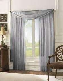 sheer scarf window treatments curtains drape valances 63 quot 84 quot 95 quot gray ebay