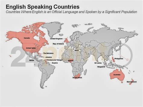 Click On English Speaking Countries In The World
