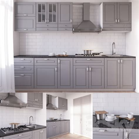 cuisine bodbyn ikea 3d models kitchen bodbyn kitchen