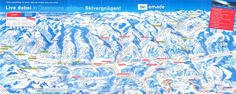 salzburger sportwelt ski map ski amade austria europe