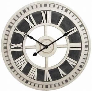 Horloge Murale Moderne : horloge murale romaine en bois 91cm ~ Teatrodelosmanantiales.com Idées de Décoration