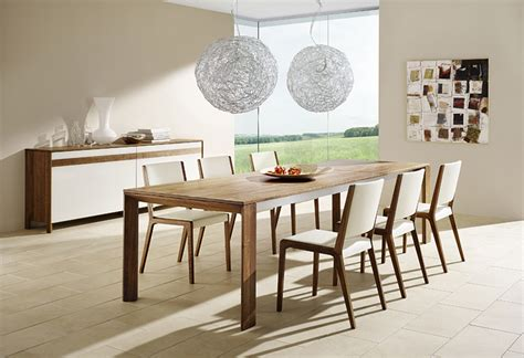 sleek  cool contemporary dining tables