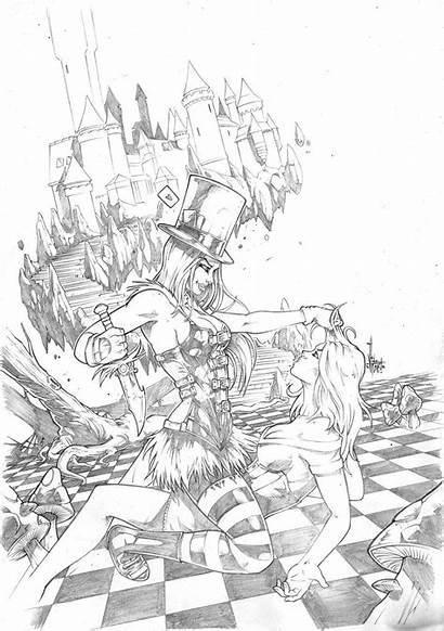 Coloring Fairy Grimm Tales Adult Wonderland Deviantart