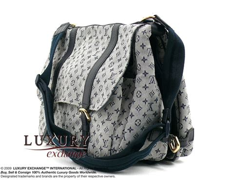 authentic louis vuitton blue monogram mini diaper bag