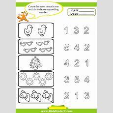 Preschool Worksheets  Kids Under 7 Preschool Counting Printables  Preschool Activities And