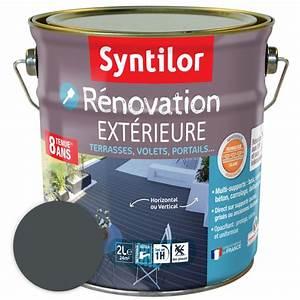 Peinture Pour Béton Extérieur : peinture de r novation pour ext rieur syntilor 4l gris ~ Premium-room.com Idées de Décoration
