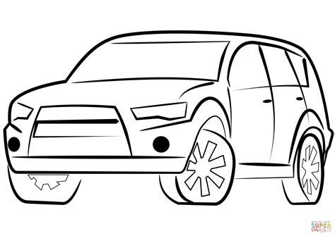 suv car coloring page  printable coloring pages