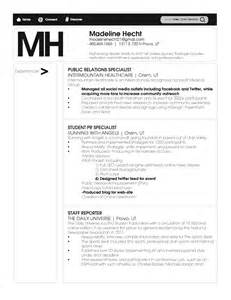 Relations Internship Resume Template by Relations Resume Madeline Hecht