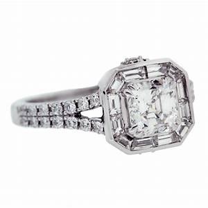 Asscher cut diamond engagement ring mouradian custom for Asscher cut diamond wedding rings