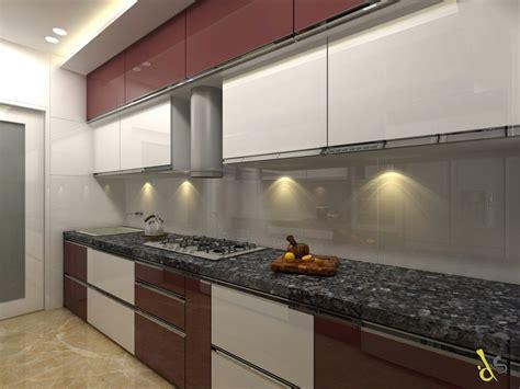 kitchen chimney light platform drawer glass door