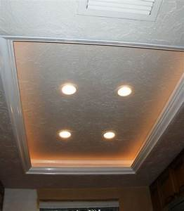 How to do recessed lighting in kitchen : Another tray ceiling recessed lighting idea to replace the