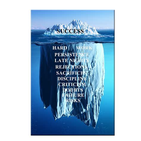 success quotes inspirational canvas wall art iceberg