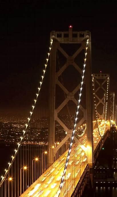 Bridge Gate Golden Animated Night Gifs Side