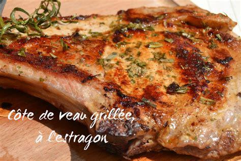 cuisiner une cote de boeuf côte de veau grillée à l 39 estragon petits plats entre amis